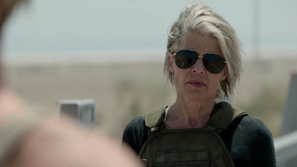 Linda Hamilton in&nbsp;<i>Terminator: Dark Fate.</i>