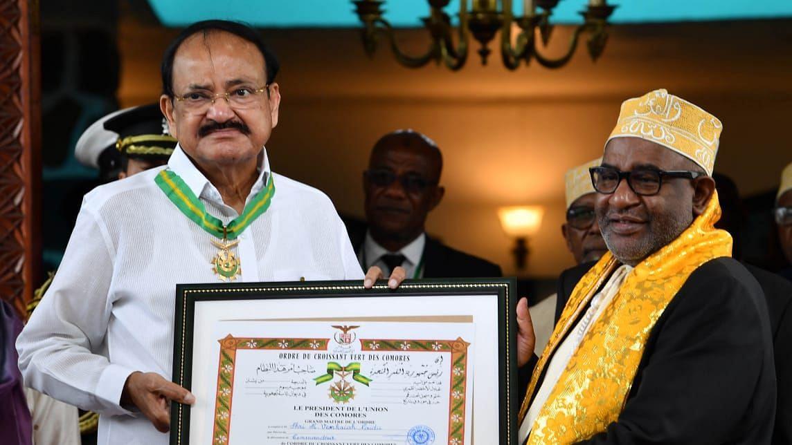 Venkaiah Naidu Conferred Highest Civilian Honour of Comoros