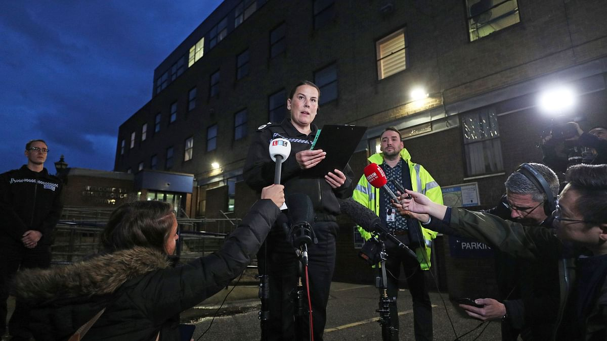 Deputy Chief Constable Pippa Mills speaks to the media during a press conference at Grays Police Station in Essex.