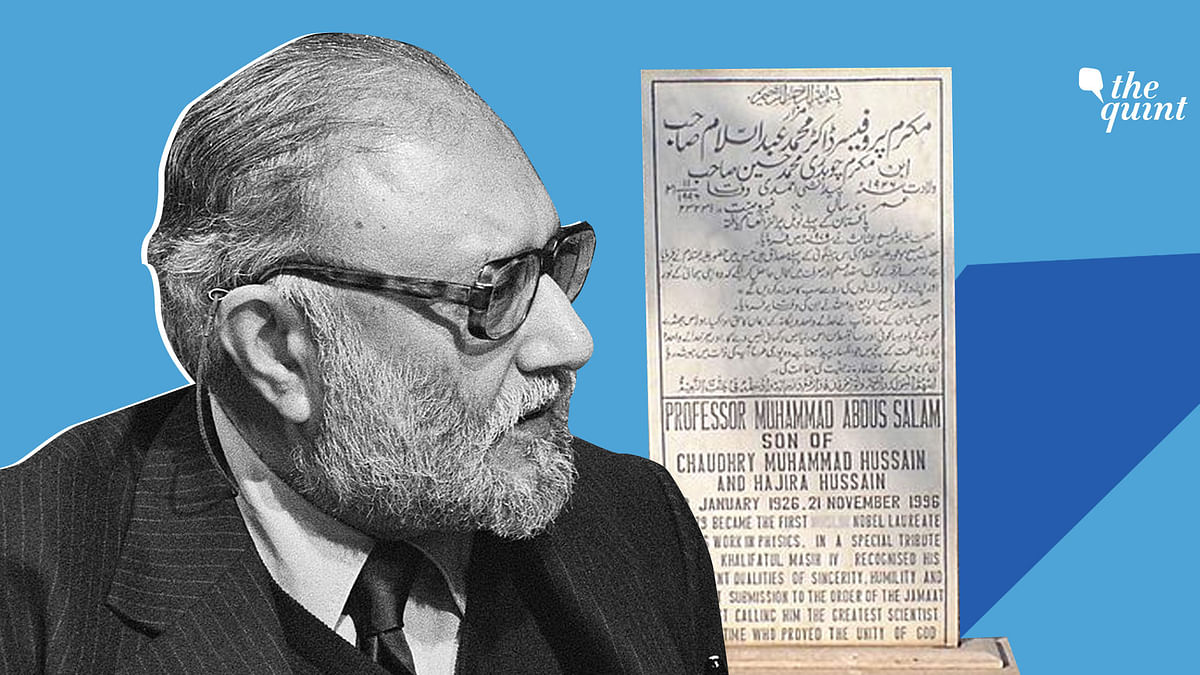 Images — of Pakistani Nobel laureate Dr Abdus Salam, and his gravestone which was defaced — used for representational purposes.