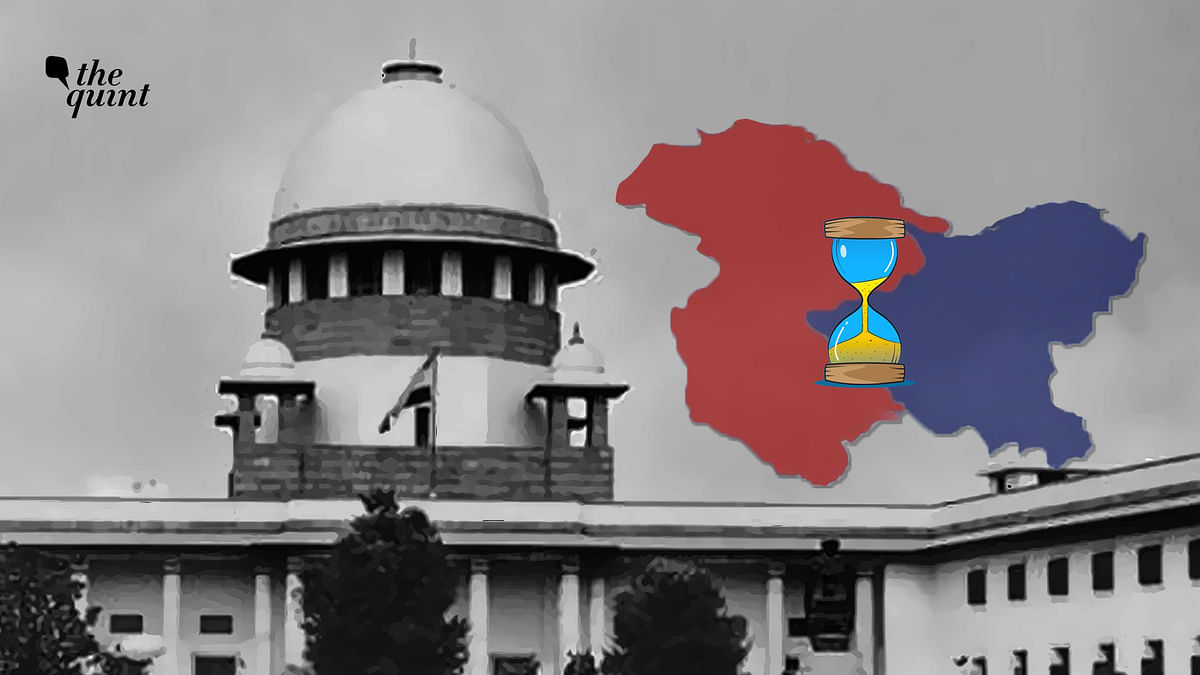 The Supreme Court is taking a long time to hear cases on matters pertaining to Kashmir.