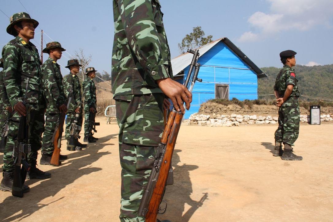 NSCN-IM cadre at camp in Manipur, 2015.