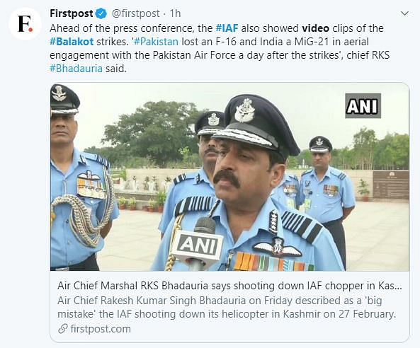 Media Misreports IAF's Promo Video as Footage From Balakot Strikes