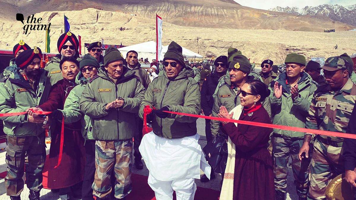 Image of Defence Minister Rajnath Singh at Siachen, used for representational purposes.