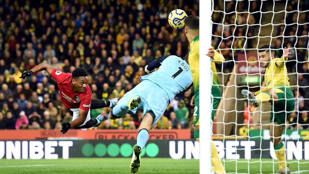It was 3-0 for Manchester United in the 73rd as Martial made up for his penalty miss.