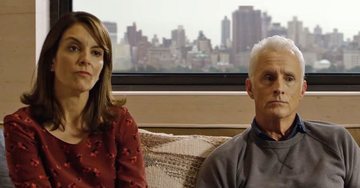 Tina Fey and John Slattery in a still from the show.