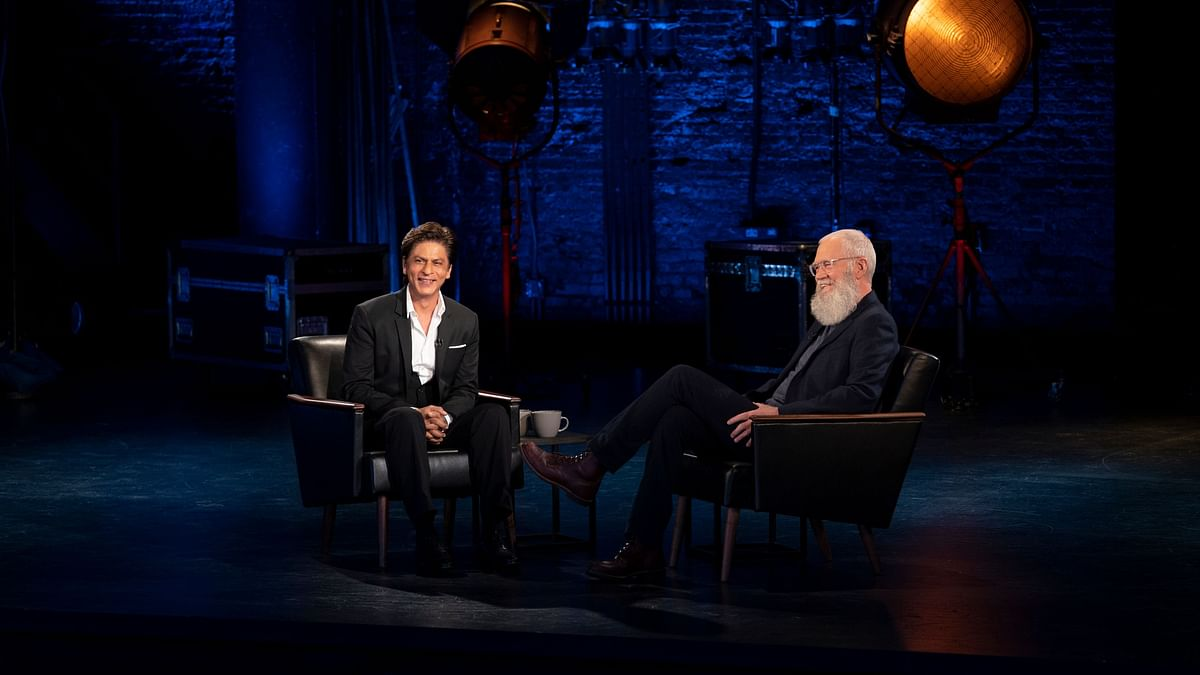 A still from <i>My Next Guest With David Letterman And Shah Rukh Khan.</i>