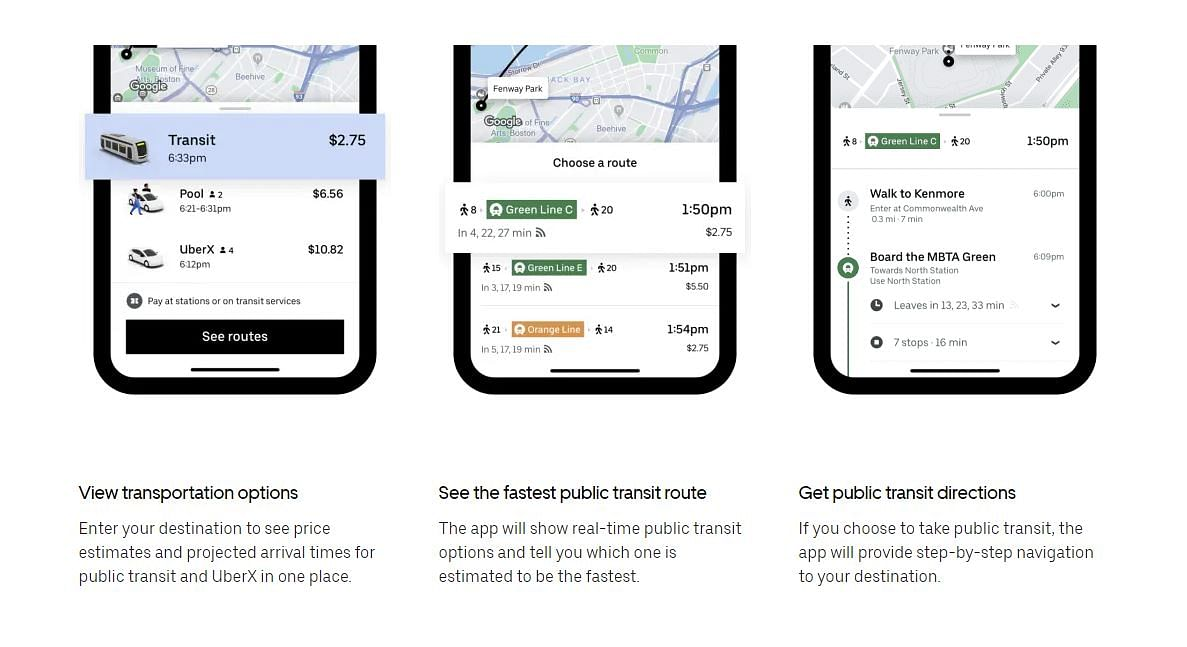 This is how the public transport services will work through Uber.