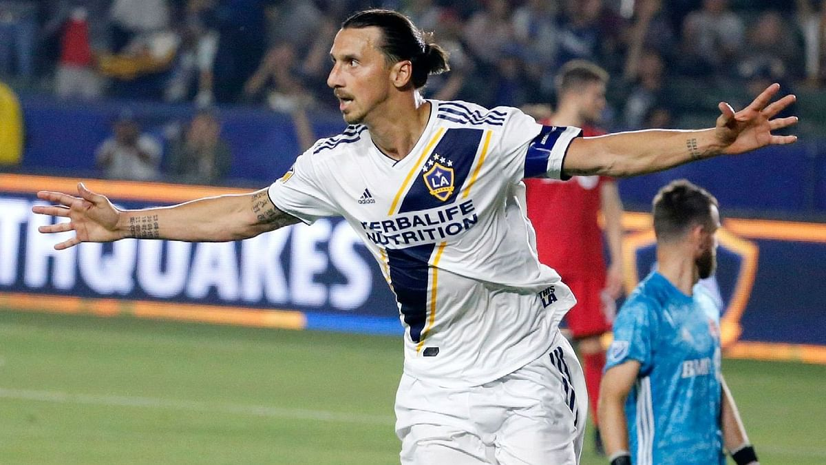 Zlatan Ibrahimovic scored 53 goals and got 14 assists in 56 appearances for the LA Galaxy.