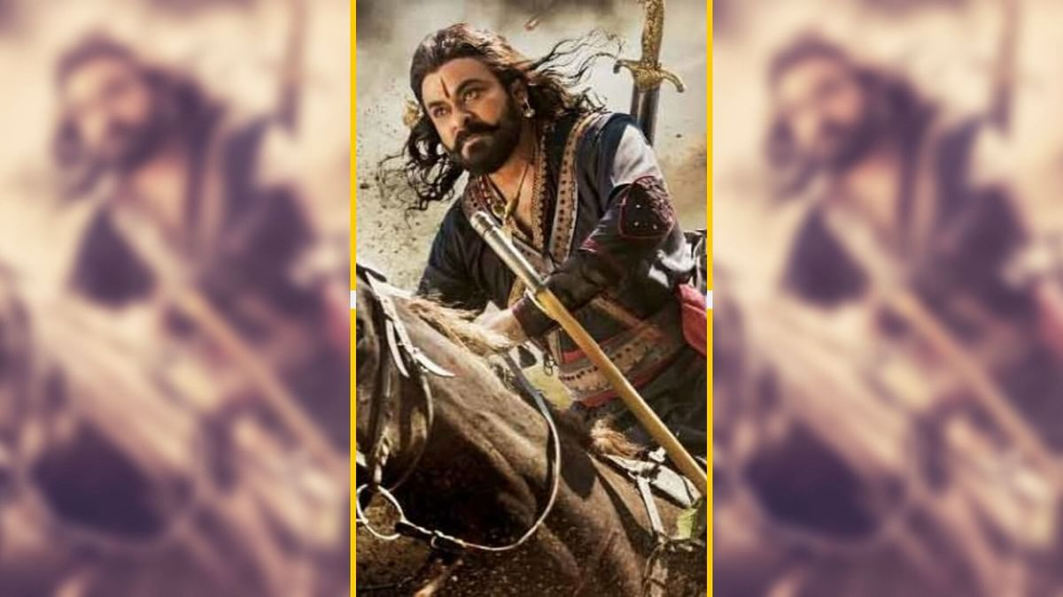 Chiranjeevi as rebel leader in <i>Sye Raa</i> <i>Narasimha Reddy.</i>