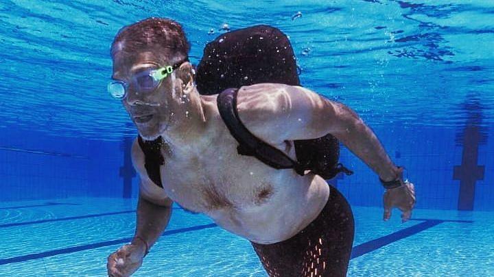 Milind Soman Running Underwater With 12 Kg Weight Is Fitness Goals