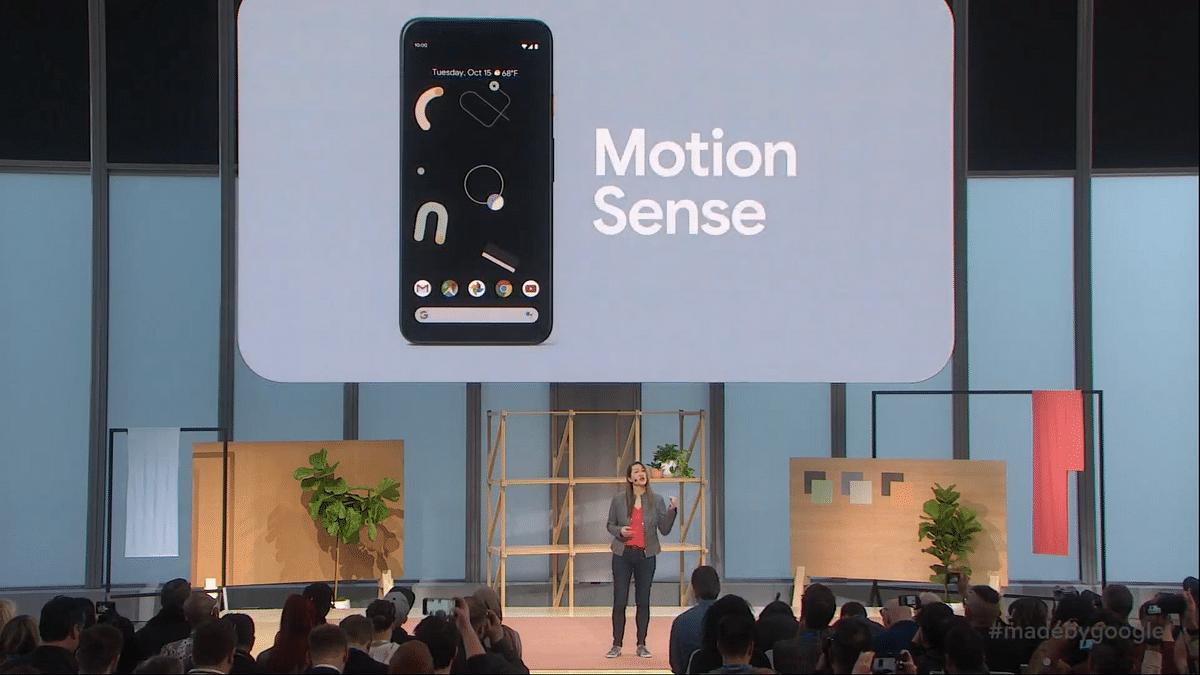 Motion Sense announced on the Pixel 4.