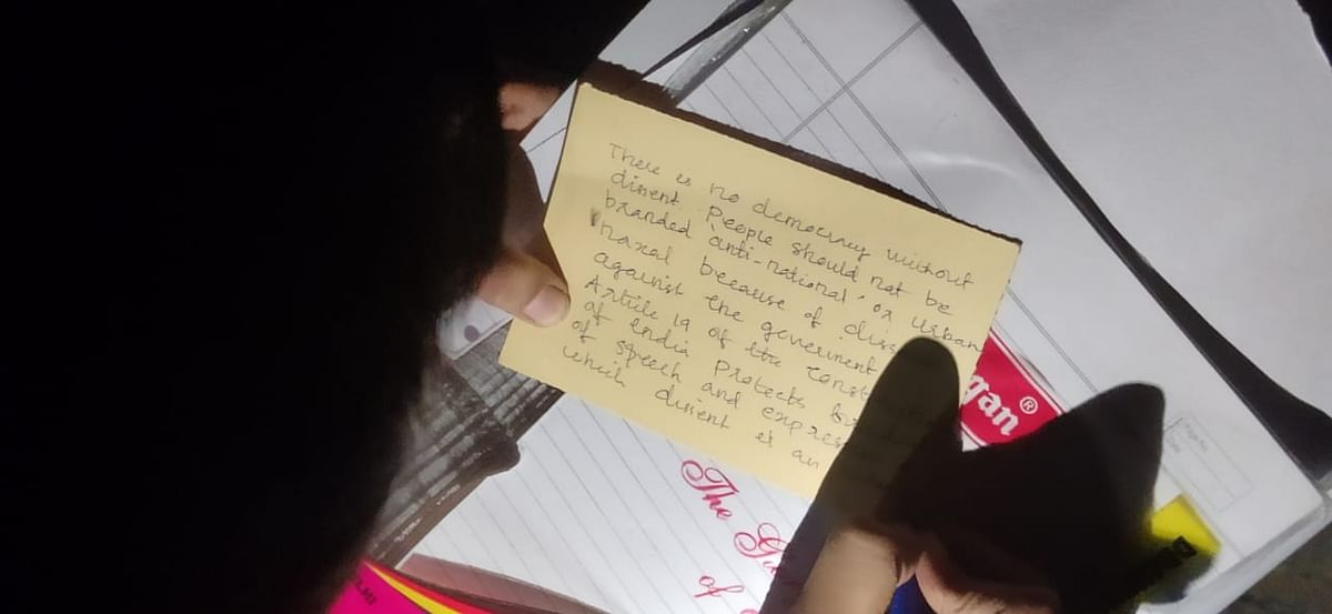 DU students have started writing postcards addressed to the prime minister.