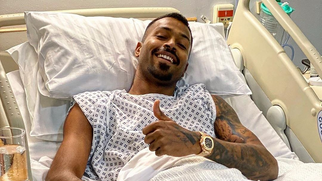 Hardik Pandya posted a picture after undergoing a successful back surgery in London.