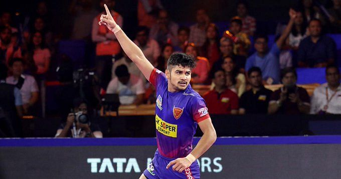Naveen Kumar was brilliant once again with 18 raid points for Delhi.