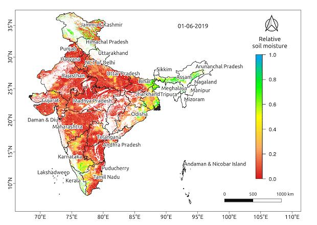 Soil moisture in June 2019.