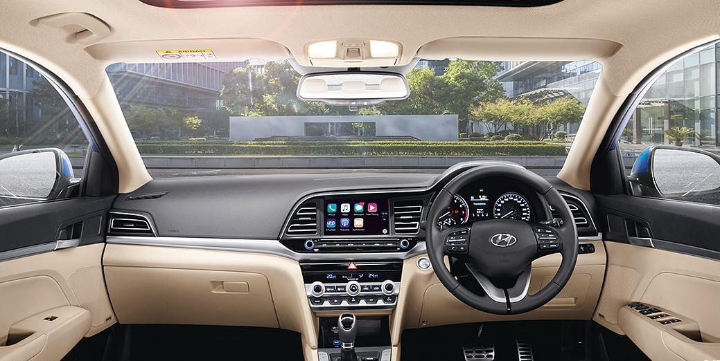The 2019 Hyundai Elantra gets Hyundai's Bluelink telematics system.