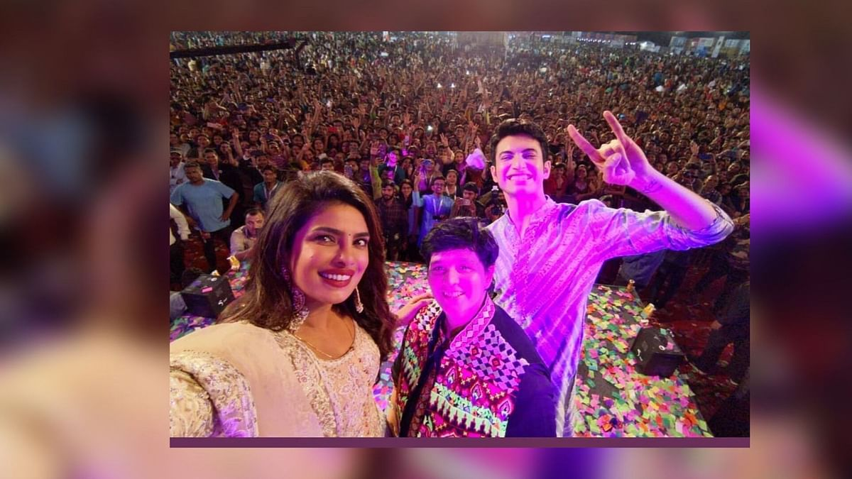 Priyanka Chopra Grooves to the Garba Beats With Falguni Pathak