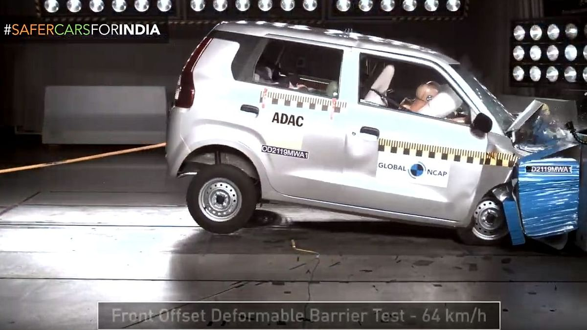 The Maruti Suzuki Wagon-R achieved two stars for adult occupant protection and two stars for child occupant protection.