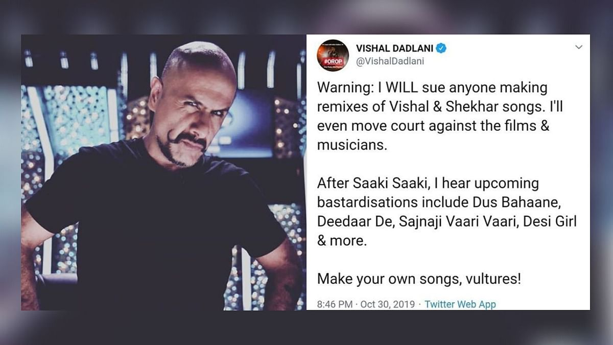 Vishal Dadlani on Why He Warned 'Vultures' Not to Remix His Songs