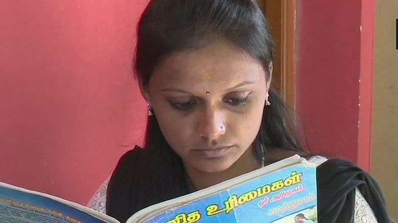 Premalatha Tamilselvan, a 21-year-old law aspirant from Madurai.