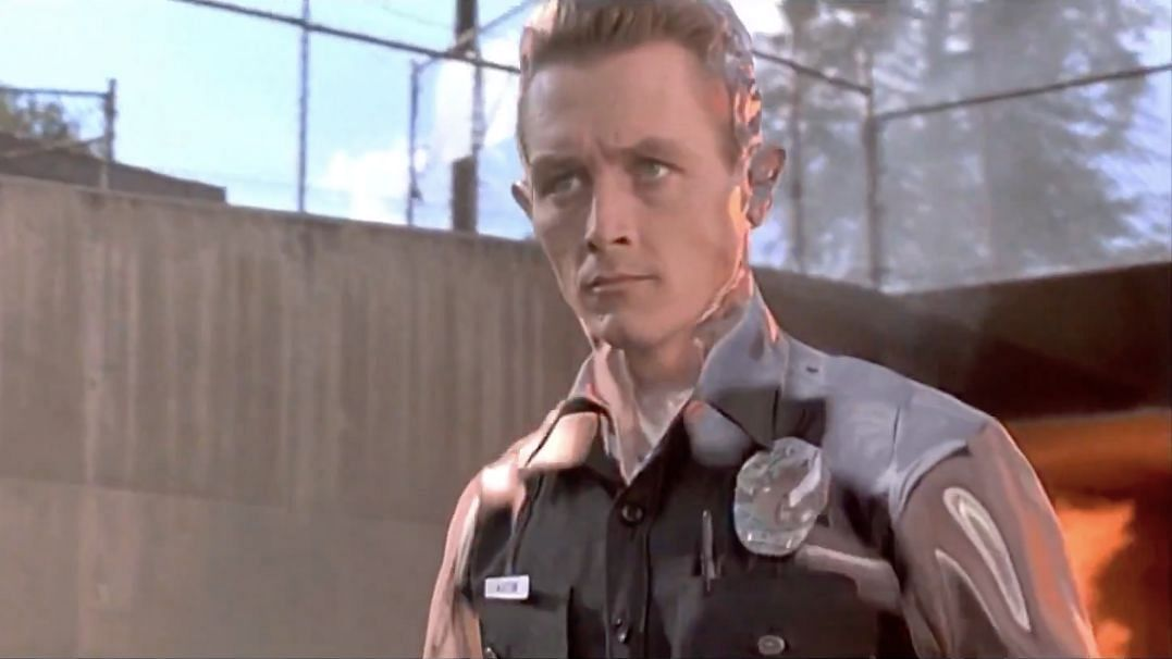 Robert Patrick as the almost indestructible T-1000 in <i>Terminator 2: Judgement Day.</i>