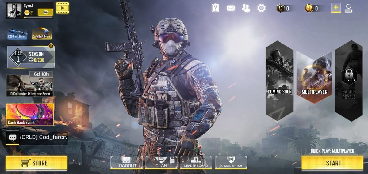 Call of Duty: Mobile offers multiplayer modes.
