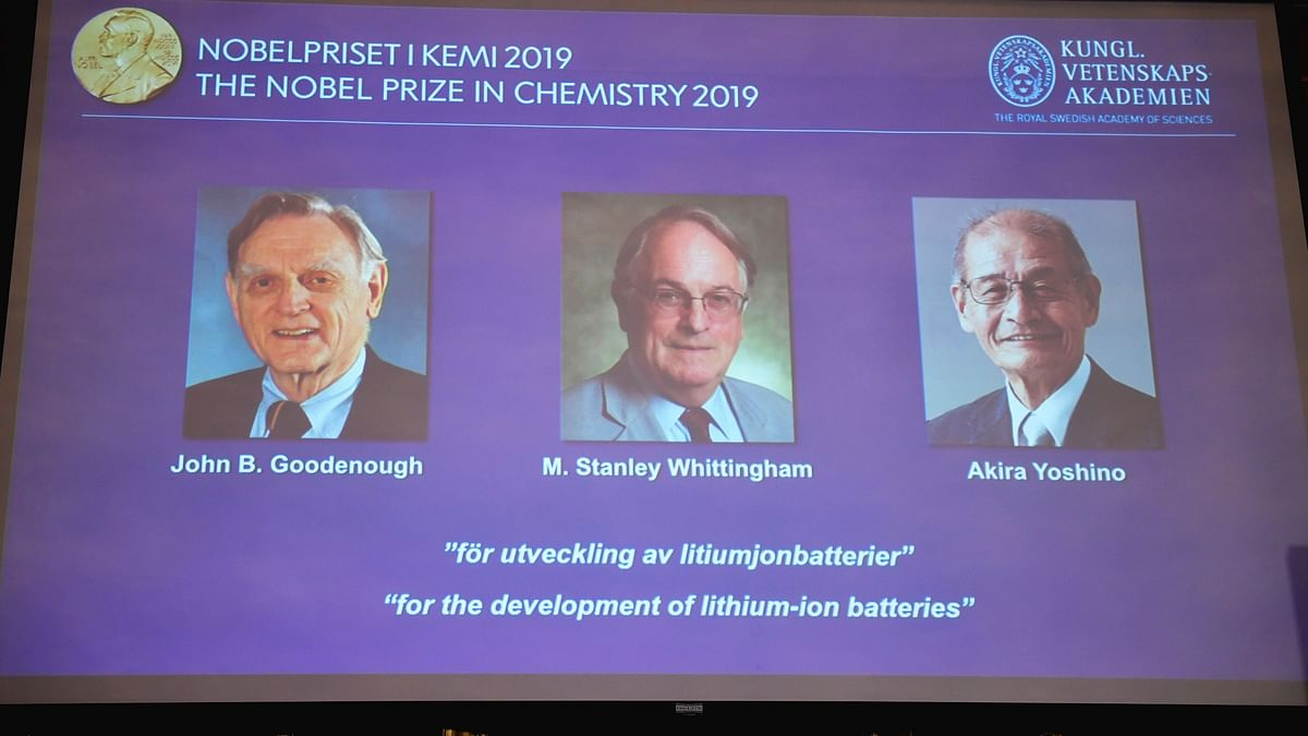 3 Win Nobel Prize in Chemistry for Work on Lithium-Ion Batteries