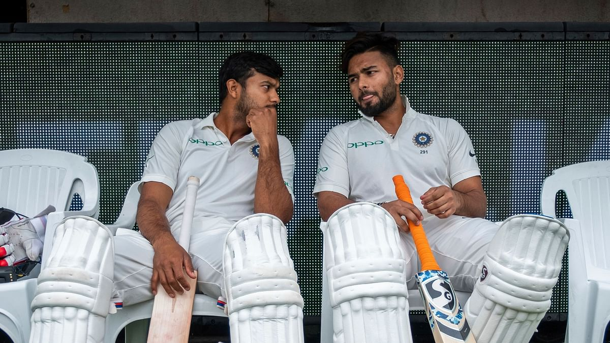 Mayank Agarwal cementing his place in the team and Rishabh Pant faltering under pressure is a tale of contrasts among the two cricketers trying to cement their spot in the Indian team.