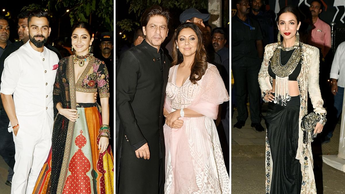 Pics: SRK, Malaika, Virat,  Anushka at Bachchan's Big Diwali Bash
