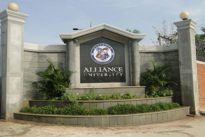 Alliance university in Bengaluru.