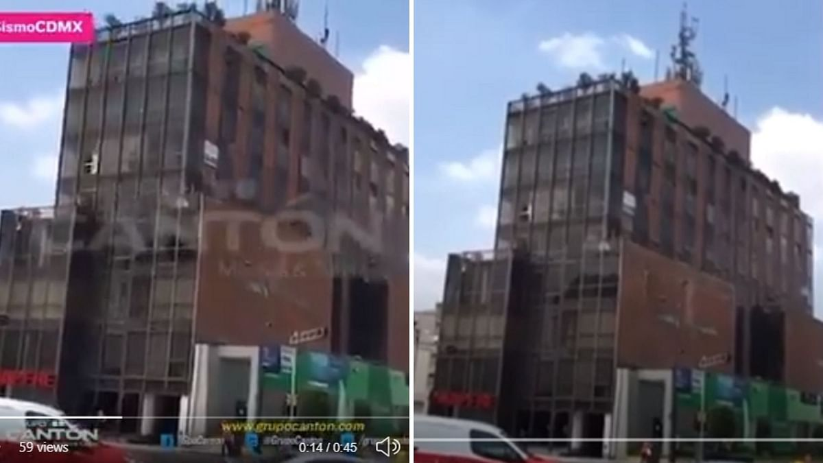 The image on the left shows the video which is viral now while the one on the right shows the visuals carried by Heraldo TV.