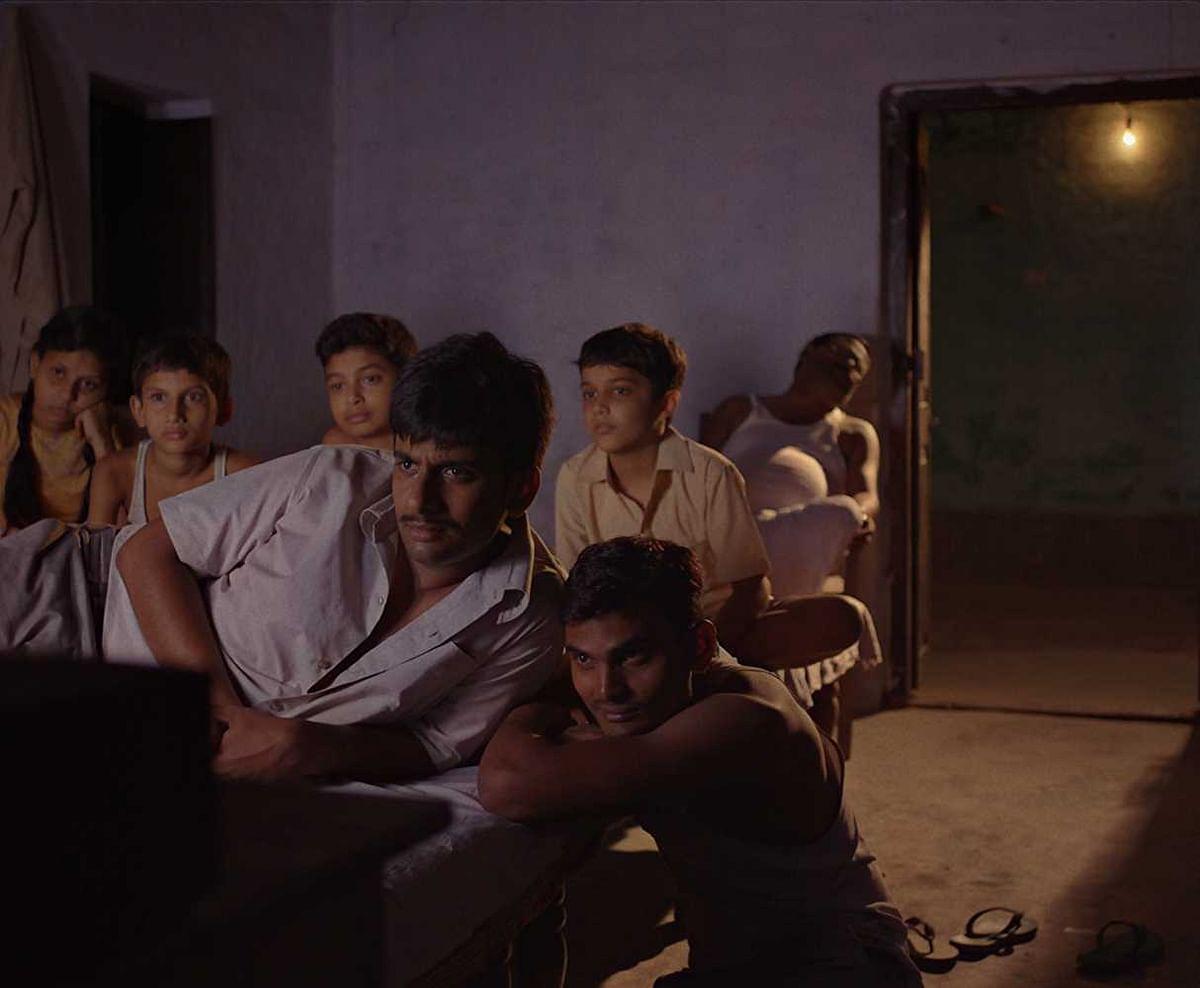 A still from <i>Gamak Ghar</i>