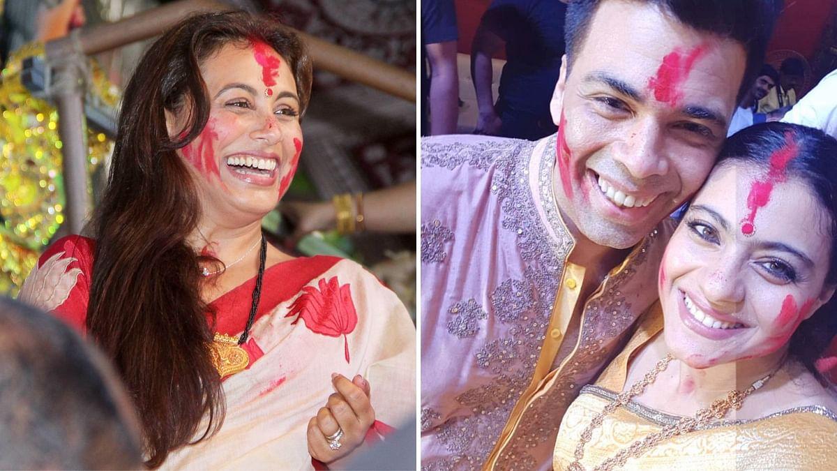 In Pics: KJo, Kajol, Rani Conclude Durga Puja in Style