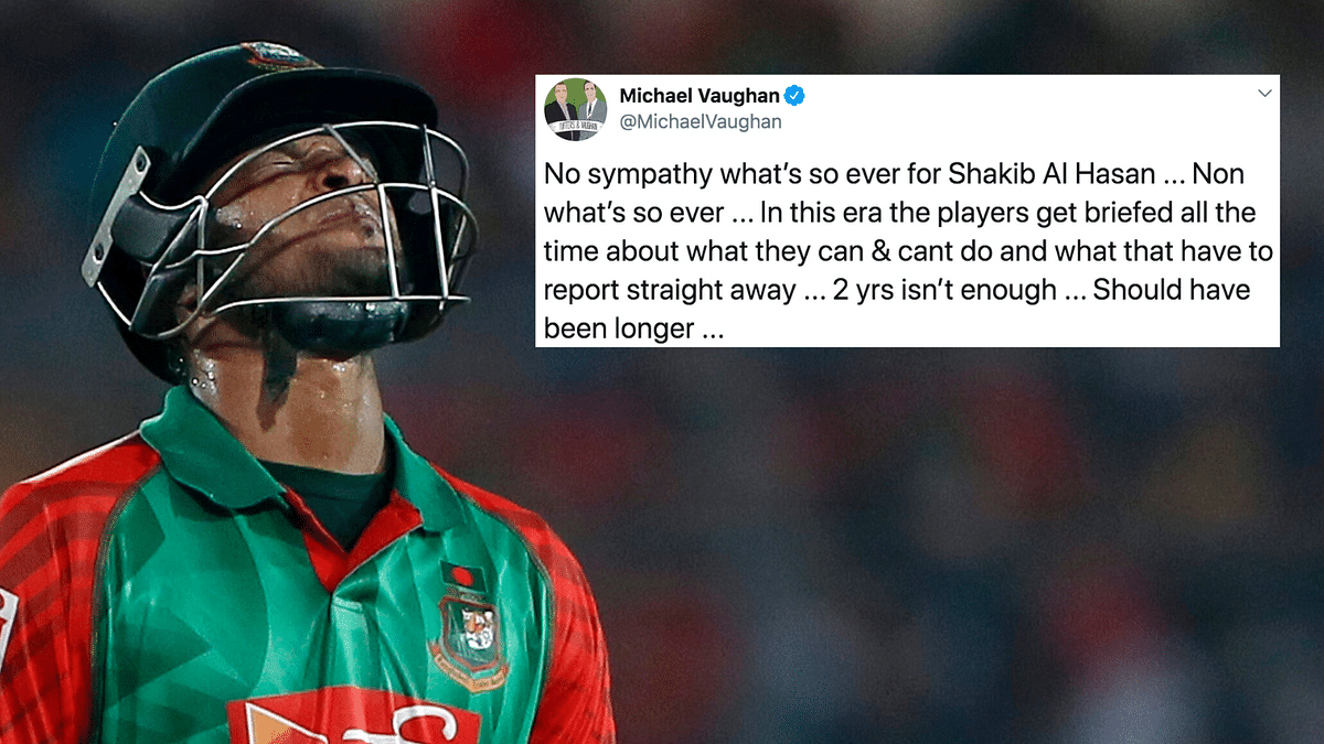 Shakib Al Hasan has been banned for two years by the ICC.