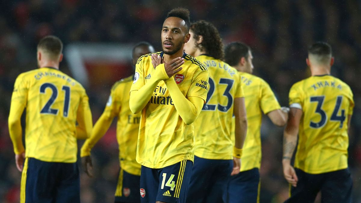 The assistant referee's flag was already raised for offside when Arsenal striker Pierre-Emerick Aubameyang chipped a deft finish past United goalkeeper David De Gea.
