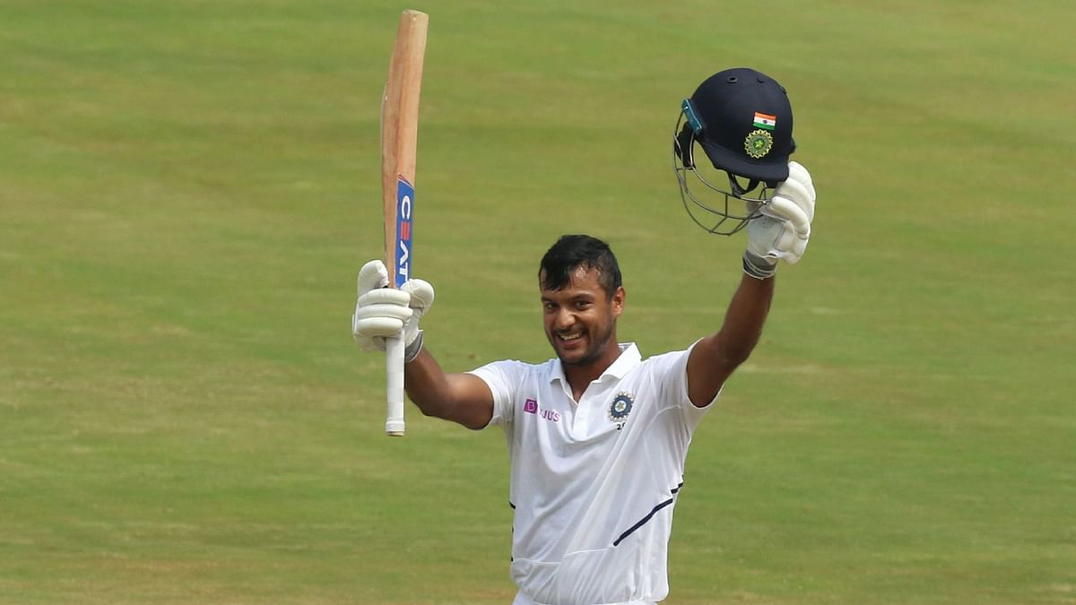 Mayank Agarwal Scores Double Century in First Test Innings at Home