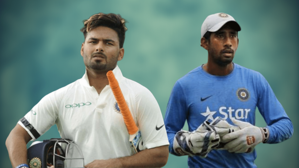 Wriddhiman Saha's Test average of 30.63 pales in comparison to Rishabh Pant's 44.35.