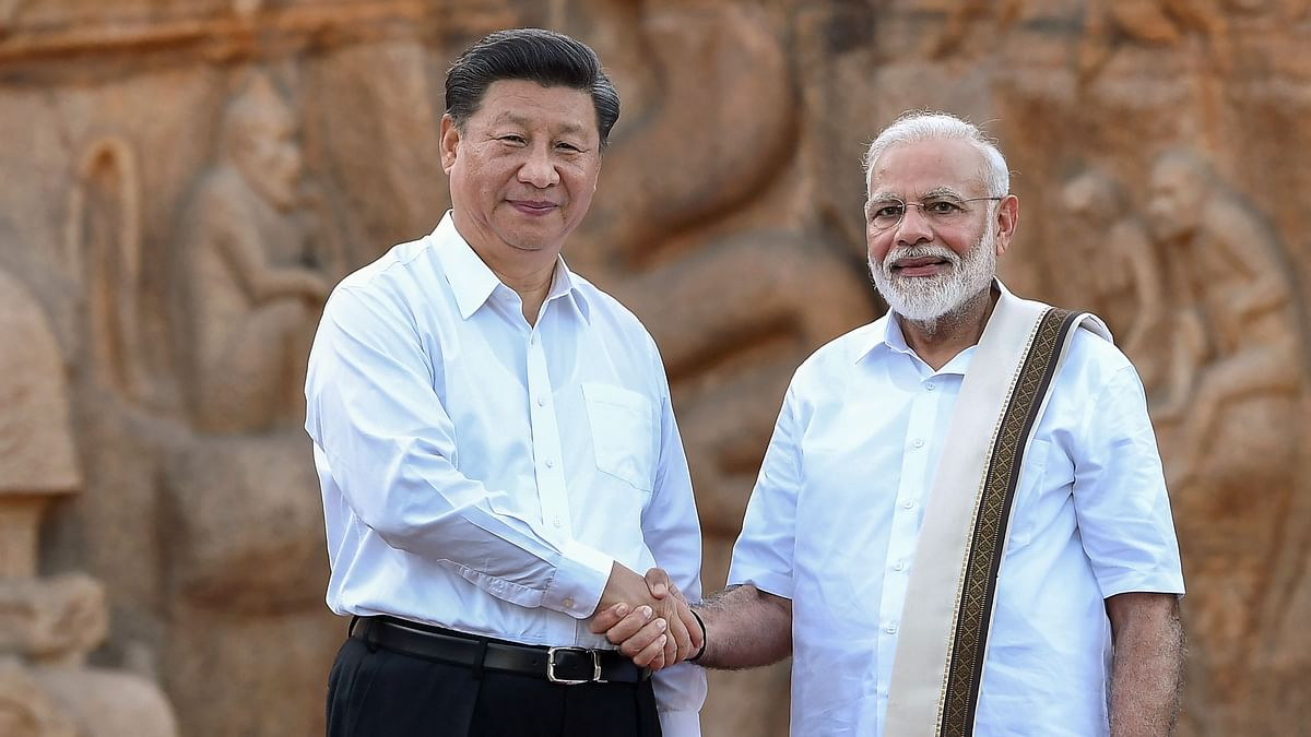 Prime Minister Narendra Modi with Chinese President Xi Jinping, in Mamallapuram on Friday, 11 October.