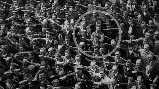 An image of August Landmesser refusing to perform the Nazi salute which Hegde had uploaded as his cover photo on Twitter.