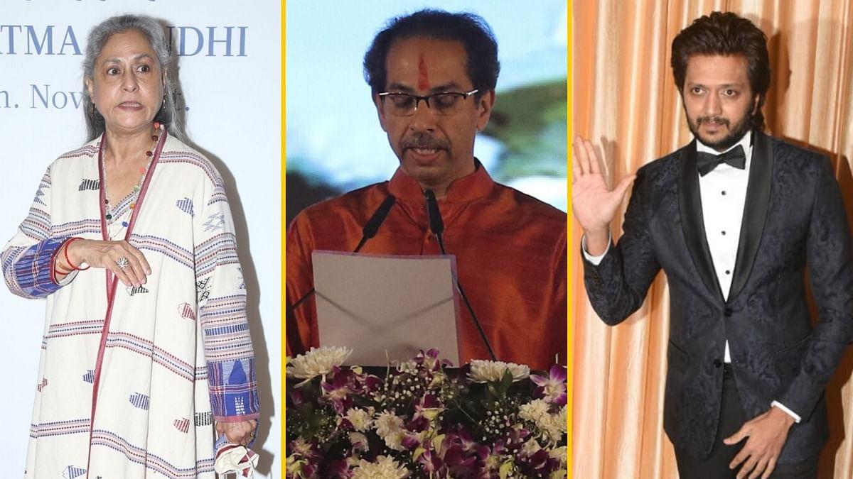 Jaya Bachchan and Riteish Deshmukh congratulated Uddhav Thackeray on becoming Maharashtra CM.