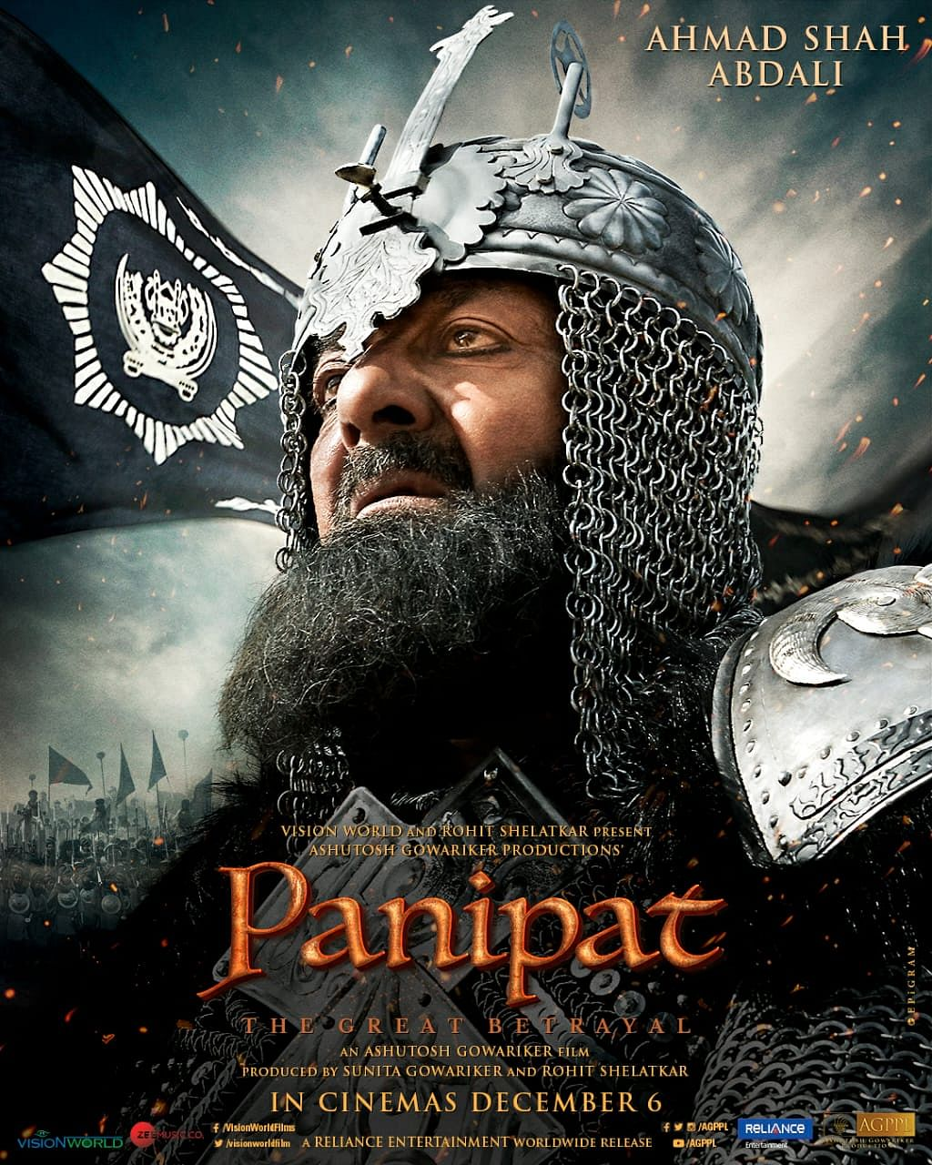 Sanjay Dutt in a poster for <i>Panipat.</i>