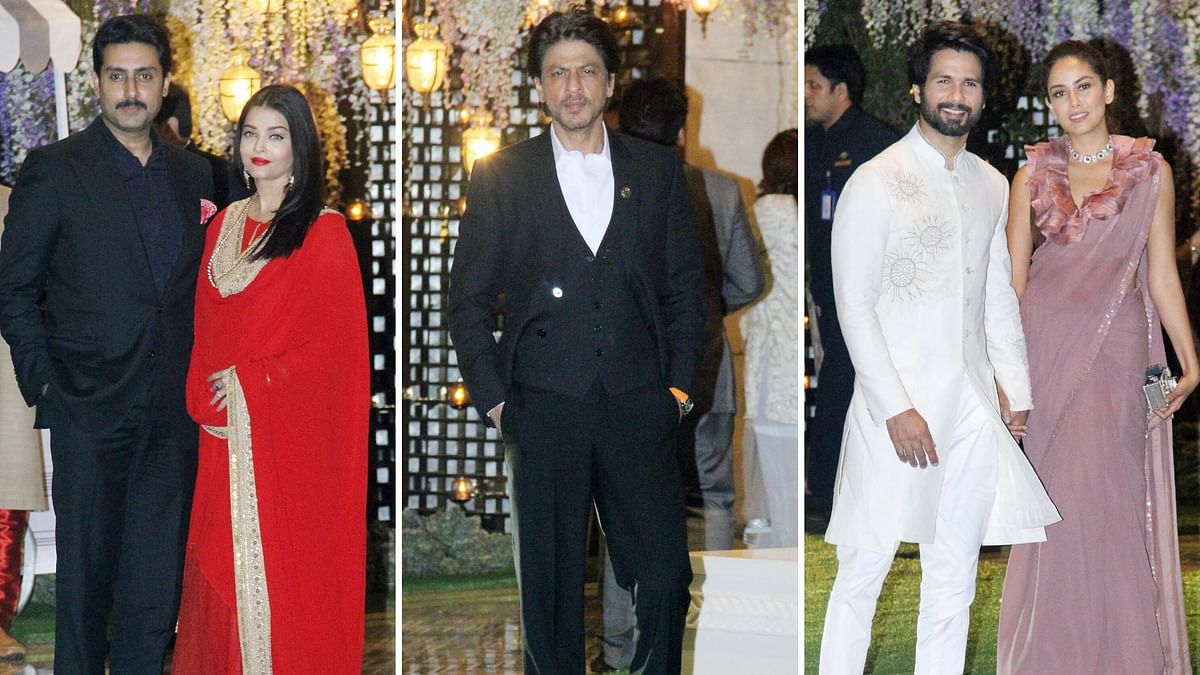 SRK, Shahid Kapoor & Bachchans at Mukesh Ambani's Family Function