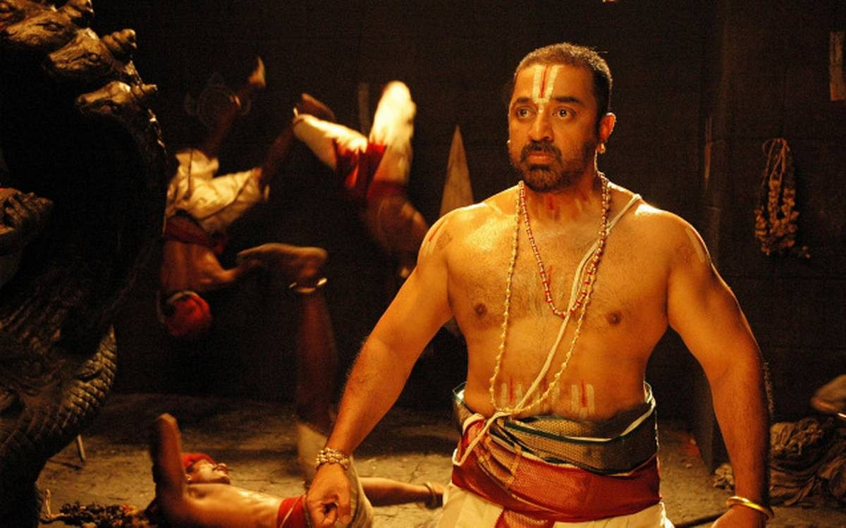 Kamal Haasan in a still from <i>Dasavathaaram</i>.