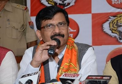 Lucknow: Shiv Sena leader Sanjay Raut addresses a press conference in Lucknow on Oct 5, 2016. (Photo: IANS)
