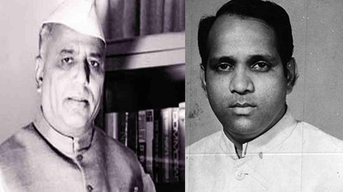 Yashwantrao Chavan and a young Sharad Pawar