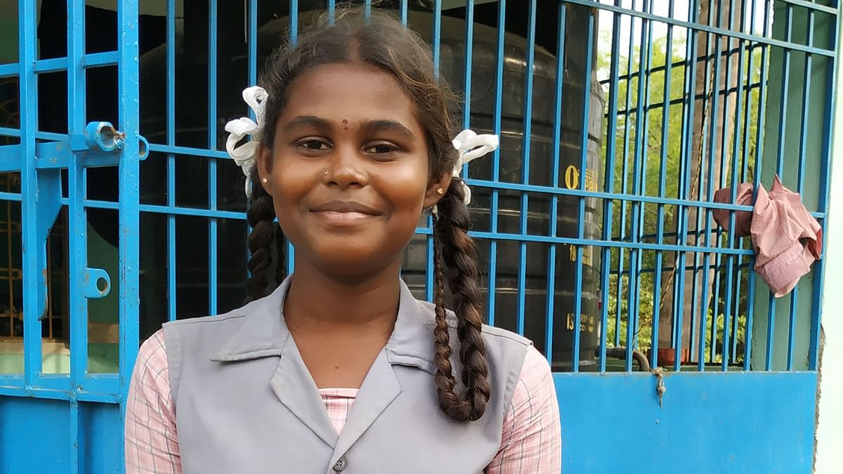 15-year-old Samandhi, from the Irular tribal community, is a first generation learner.