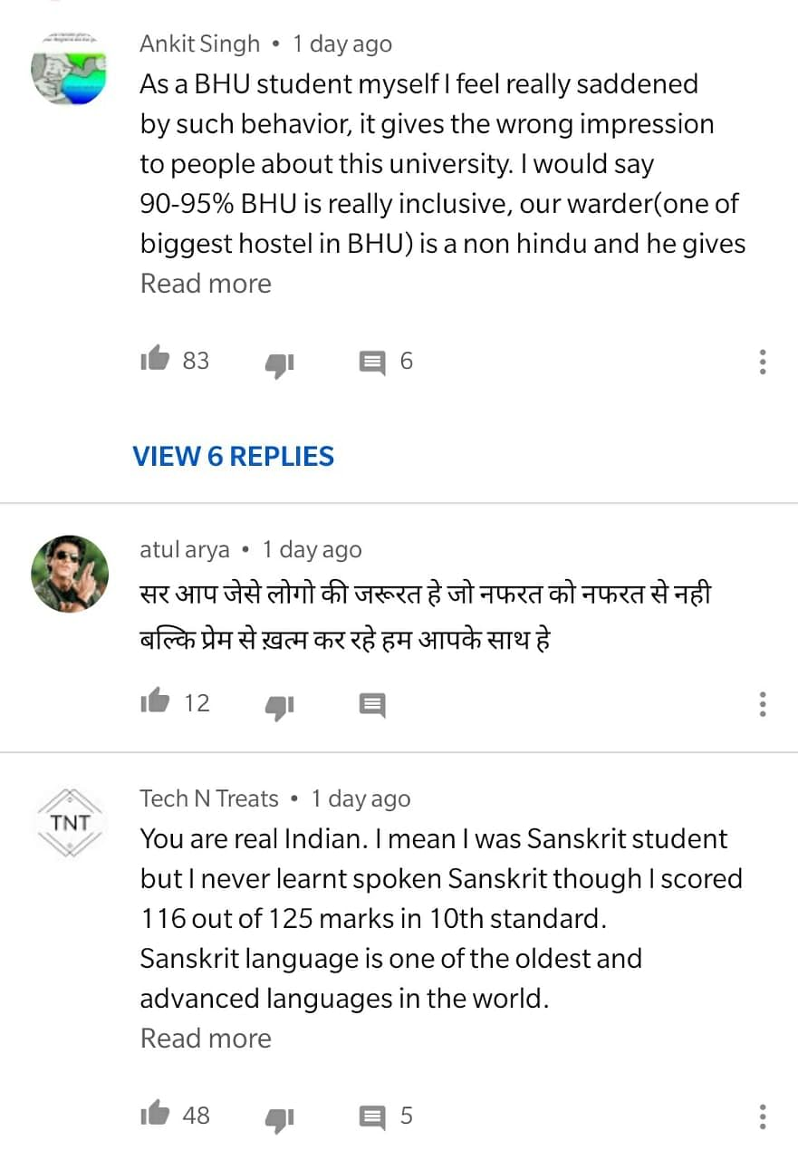 'I'm Not Alone': Muslim BHU Sanskrit Prof Reacts to Public Support