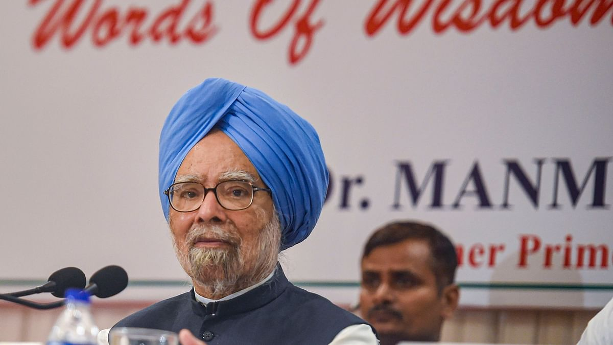 File image of Former prime minister and Congress leader Manmohan Singh.