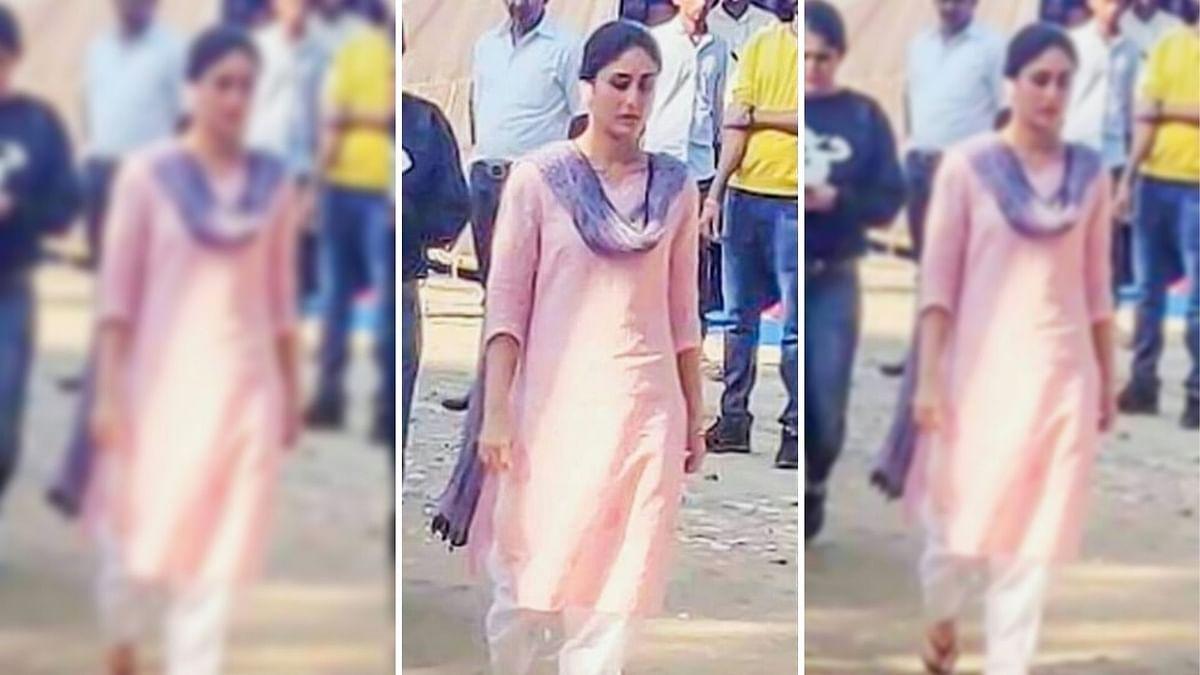 Kareena Kapoor on the sets of <i>Laal Singh Chaddha</i>.